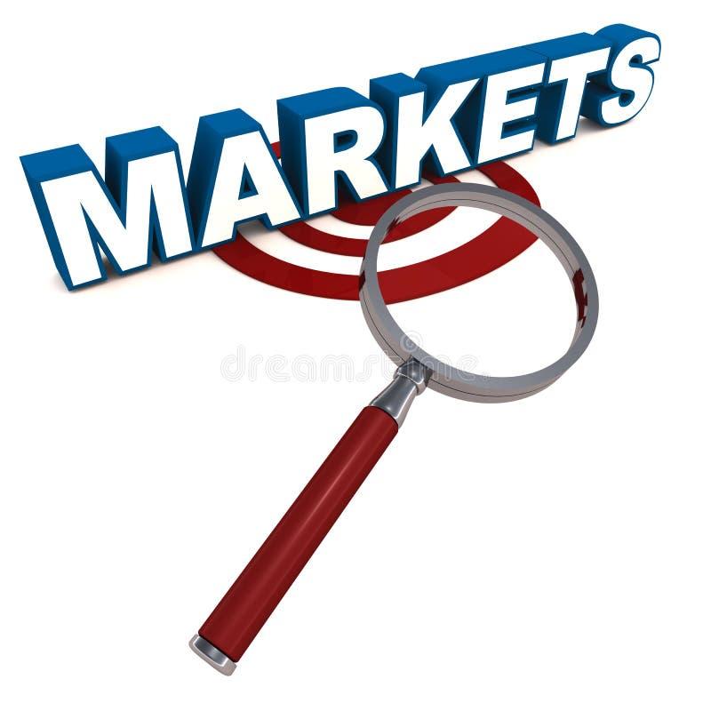 Рынки иллюстрация вектора