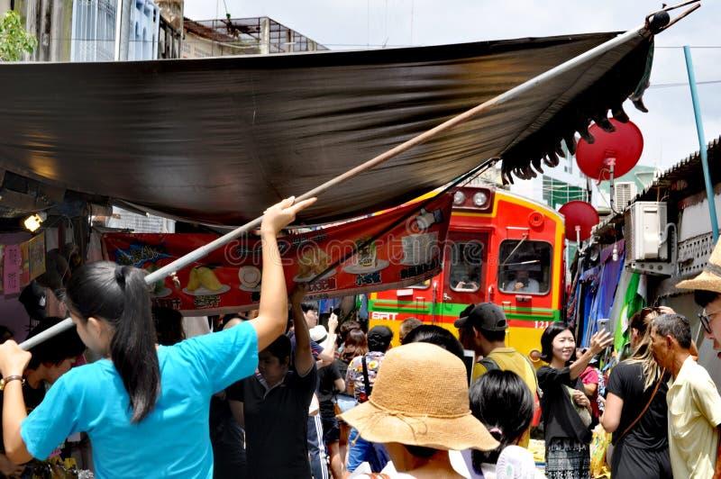 Рынок Бангкока железнодорожный стоковая фотография