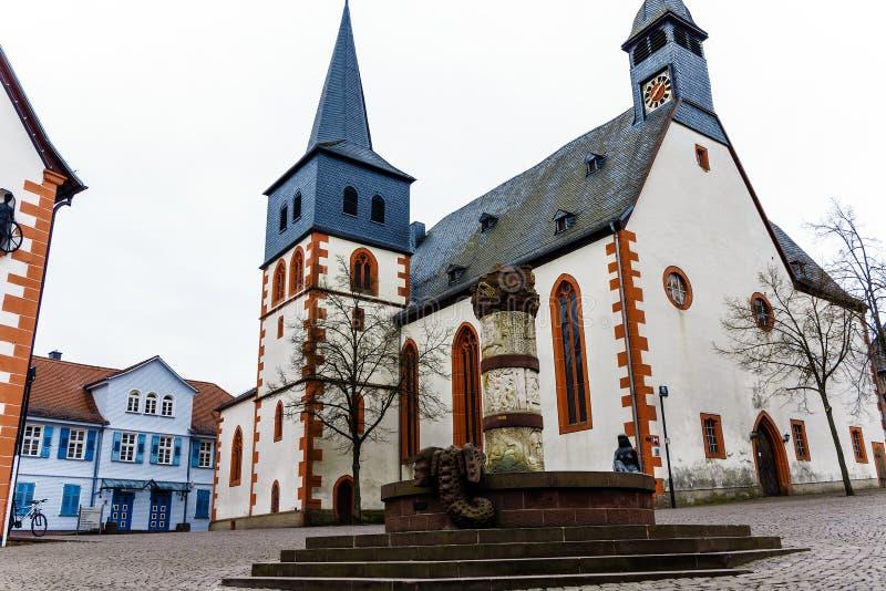 Рынок в городке Steinau сказки der Straße, Германия стоковые фотографии rf