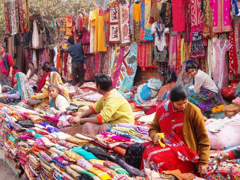 Рынок в Дели/Индии стоковое изображение