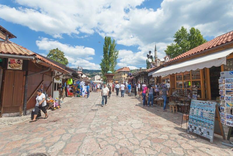 Рынок в Сараев стоковая фотография rf