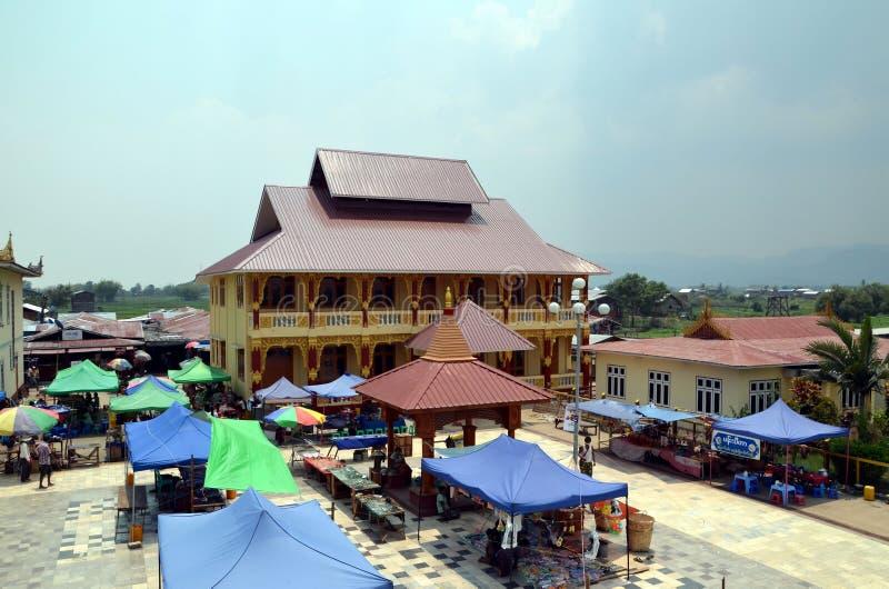 рынок в Myanmar стоковые изображения rf