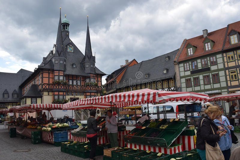 Рынок в Wernigerode стоковая фотография rf