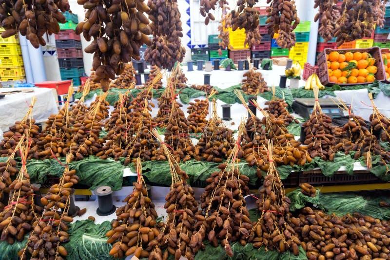 Рынок дат в Тунисе, Тунисе стоковое изображение rf