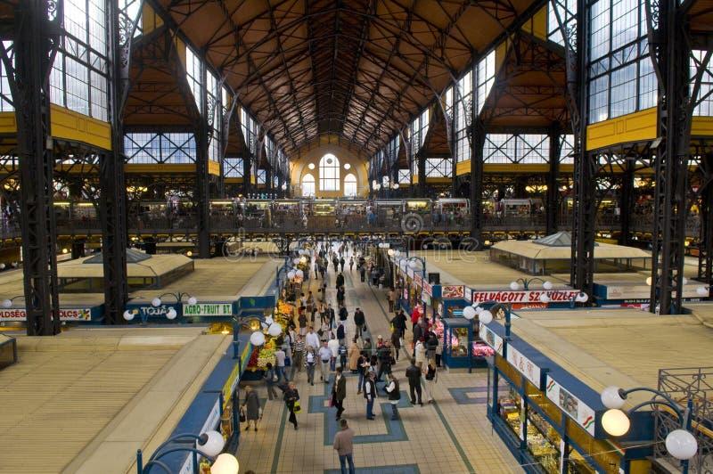 рынок залы решетки budapest стоковое фото