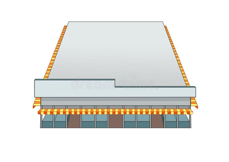 Рынок здания дизайна и цвет серого цвета иллюстрация штока