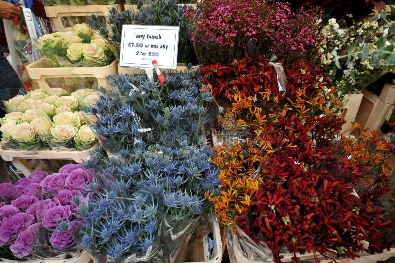 Рынок Лондон цветка дороги Колумбии, Великобритания стоковое изображение
