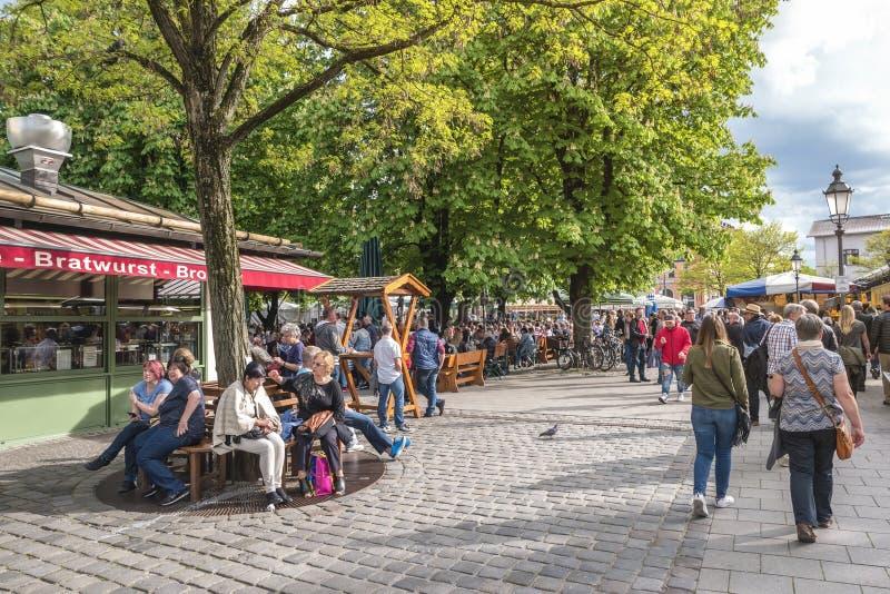 Рынок Мюнхен Германия Victuals стоковые фото