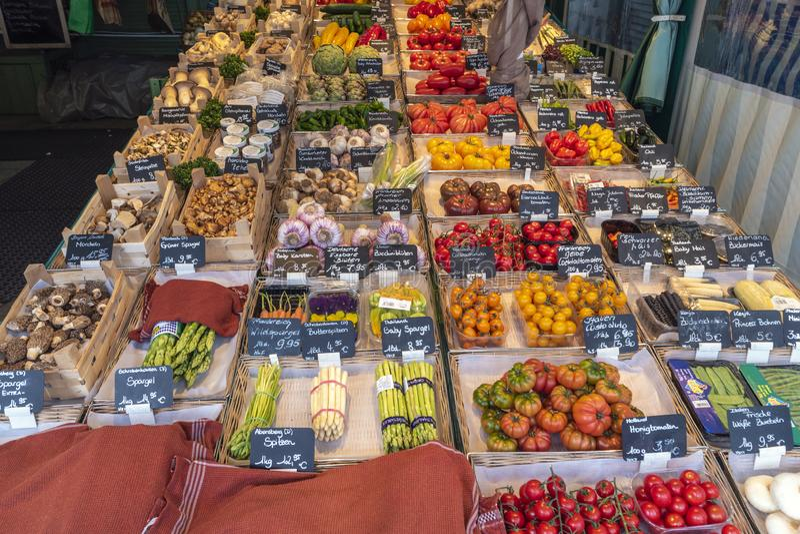 Рынок Мюнхен Германия Victuals стоковое изображение rf