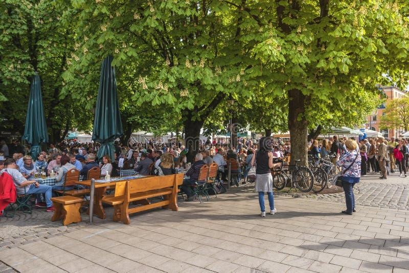 Рынок Мюнхен Германия Victuals стоковое фото