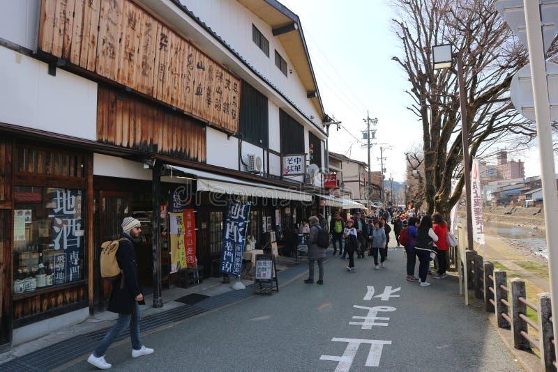 Рынок Нагои старый, 6-ОЕ АПРЕЛЯ 2019: Коммерчески рынок здания и искусства стоковые изображения
