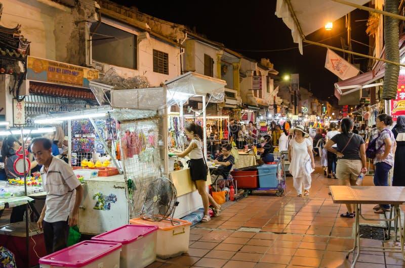 Рынок ночи в пятница, суббота и воскресенье самая лучшая часть улицы Jonker стоковая фотография rf
