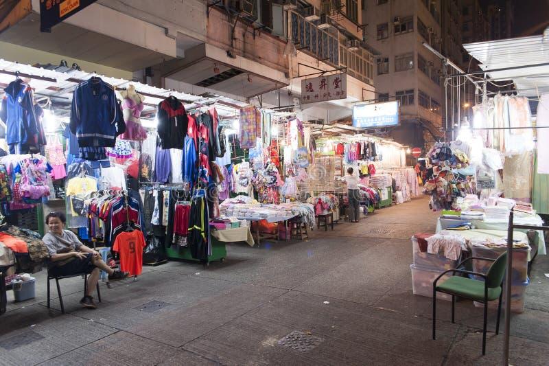 Рынок ночи Гонконга стоковые фото