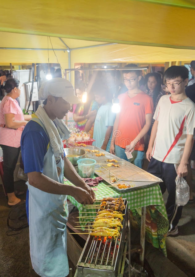 Рынок ночи Krabi стоковое изображение
