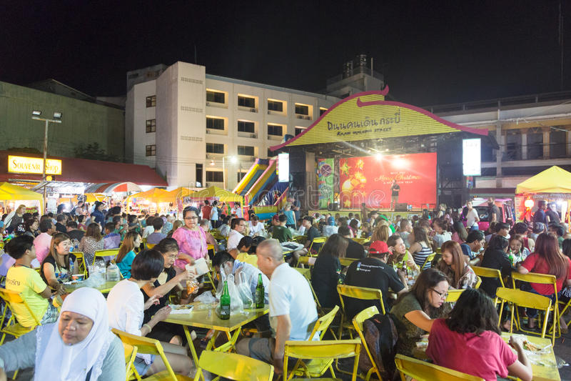 Рынок ночи Krabi стоковая фотография
