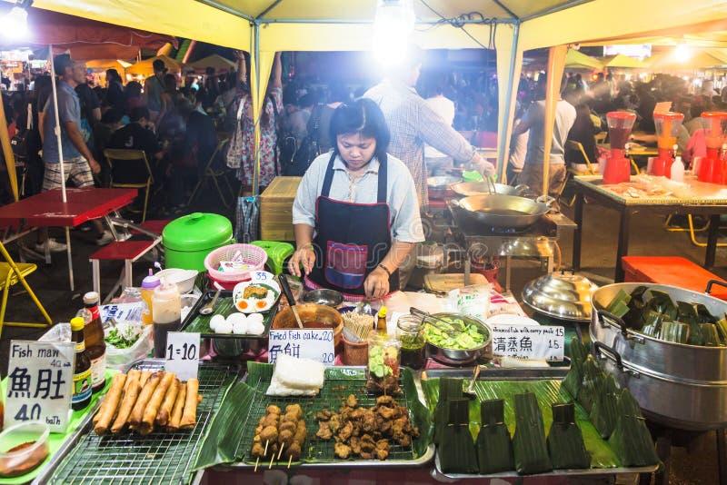 Рынок ночи Krabi стоковая фотография rf
