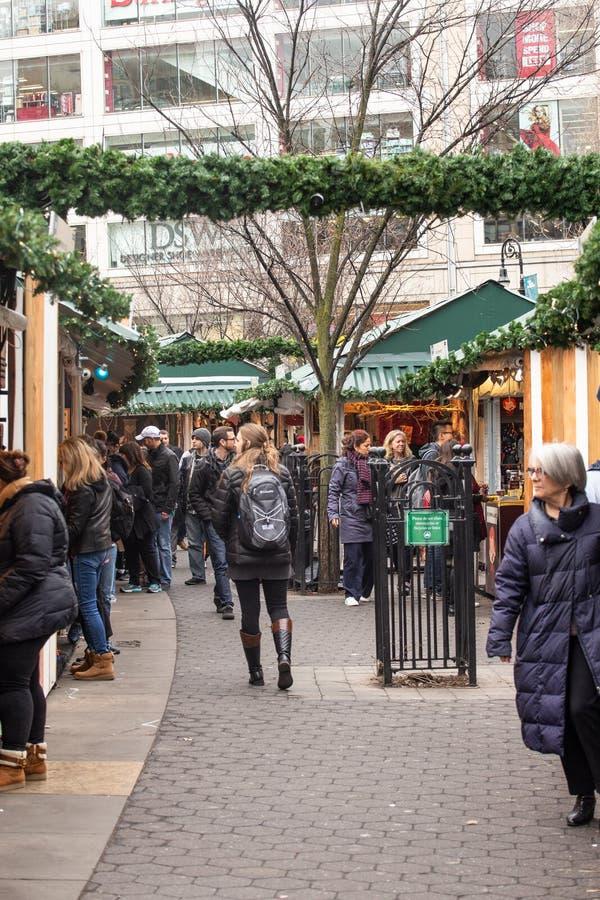 Рынок праздника квадрата NYC Greenmarket соединения стоковые фотографии rf