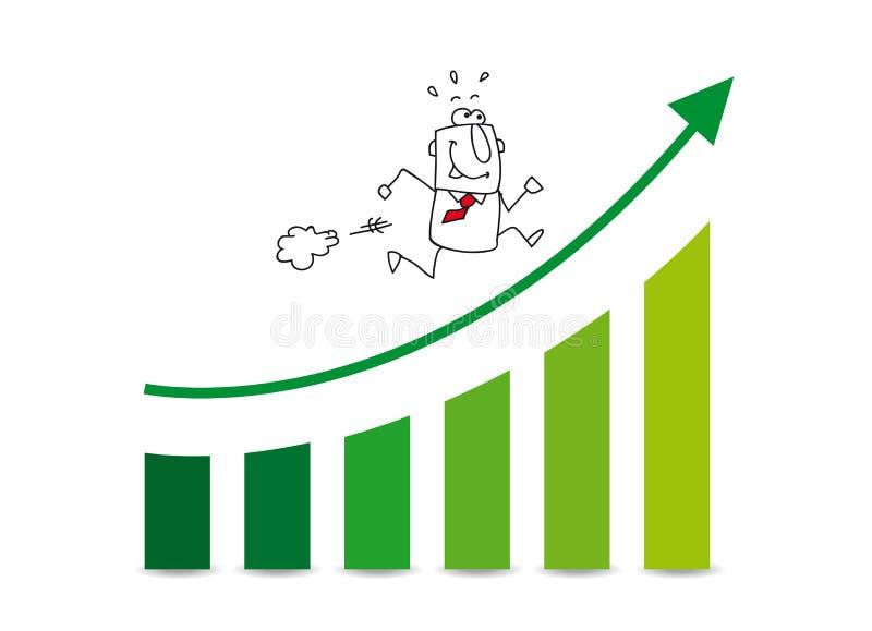 Рынок растет вверх иллюстрация штока