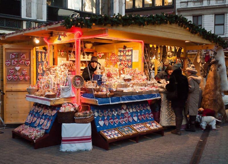 рынок рождества budapest стоковое изображение