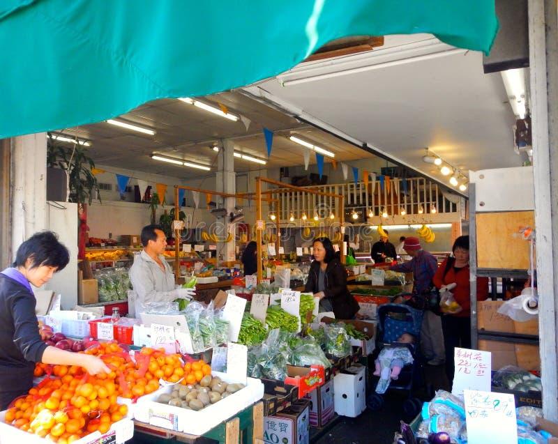 Рынок Сан-Франциско Чайна-тауна стоковое изображение