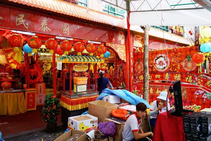 Рынок Сингапура Чайна-тауна стоковое фото rf