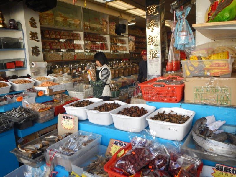 Рынок специи Чайна-тауна стоковая фотография rf