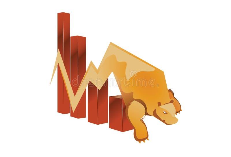 Рынок с понижательной тенденцией стоковые фотографии rf