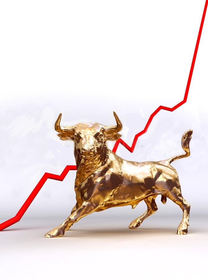 рынок тенденцией к повышению курсов бесплатная иллюстрация