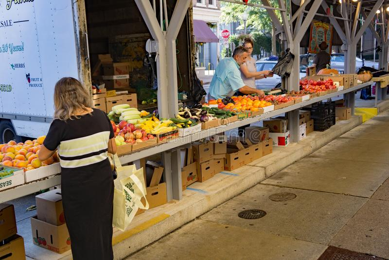 Рынок фермеров Roanoke стоковая фотография rf