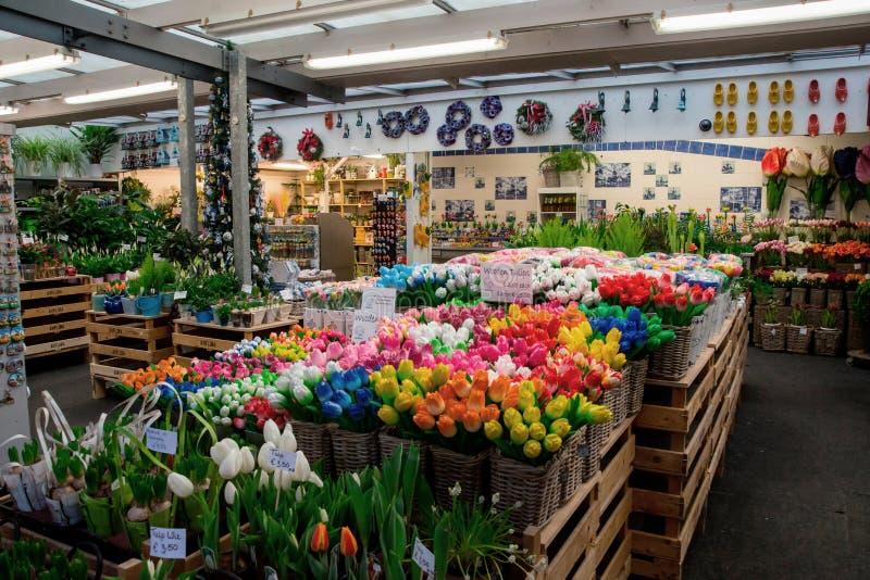 Рынок цветка Амстердама (Bloemenmarkt) стоковая фотография