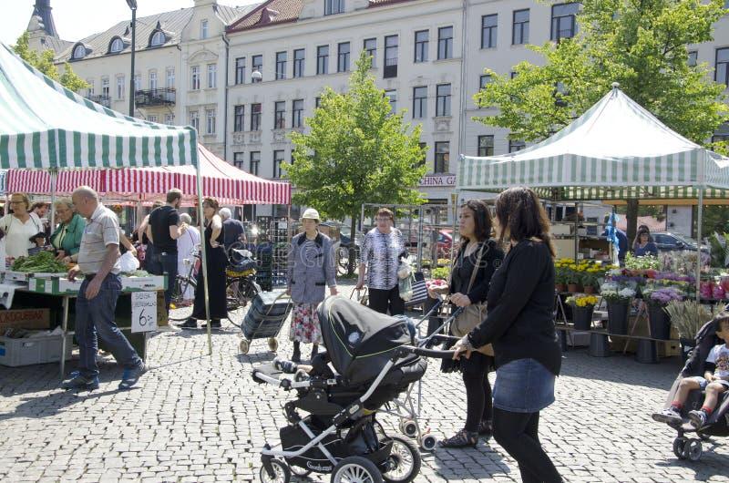 Рынок Швеция фермеров стоковые фото