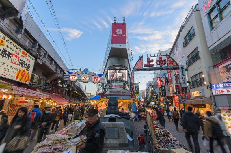 Рынок Ameyoko в вечере стоковое изображение rf