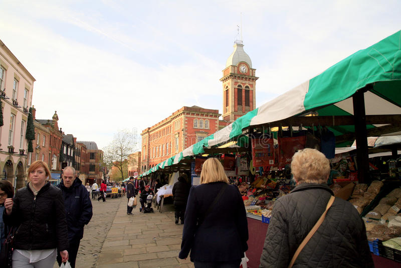 Рынок Chesterfield, Дербишир стоковая фотография