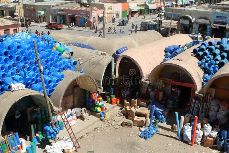 Рынок Hall Mekele в Эфиопии стоковая фотография