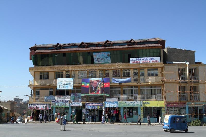 Рынок Hall Mekele в Эфиопии стоковое фото