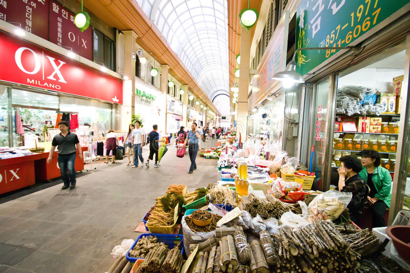 рынок iksan крытый Кореи южный стоковая фотография rf