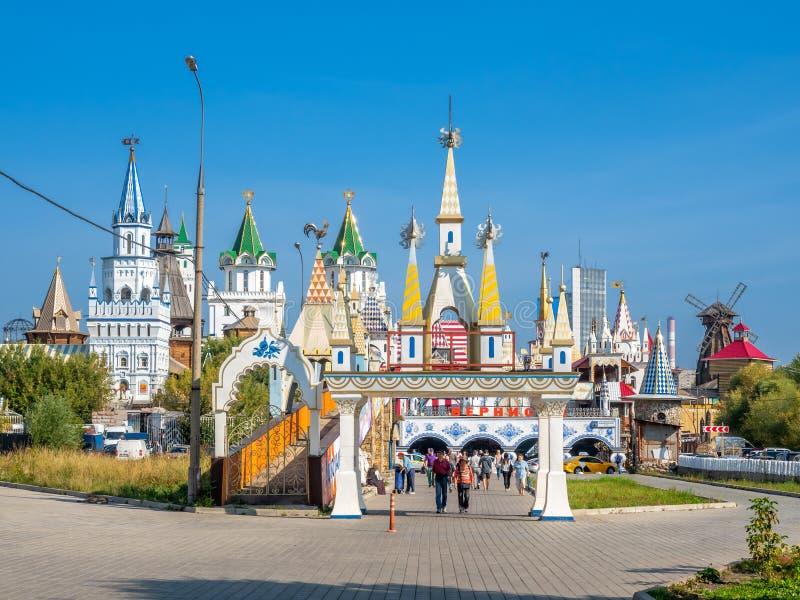 Рынок Izmailovsky в Москве, России стоковое изображение