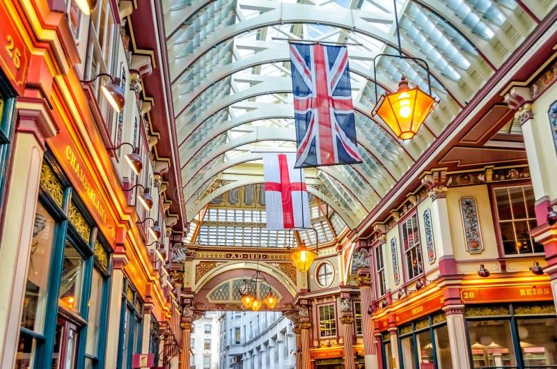 Рынок Leadenhall, традиционный крытый рынок в городе Лондона стоковое изображение rf