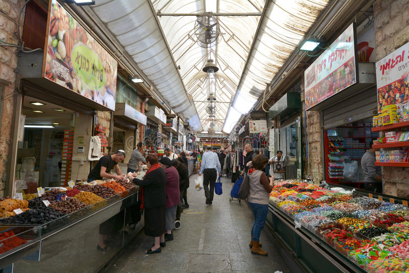 Рынок Mahane Yehuda в Иерусалиме - Израиле стоковое фото rf