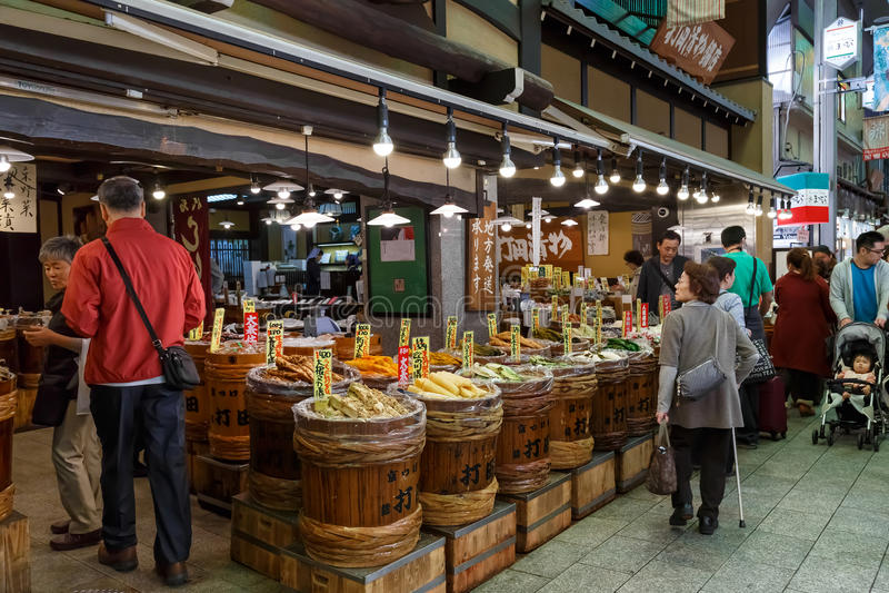 Рынок Nishiki в Киото стоковые фотографии rf