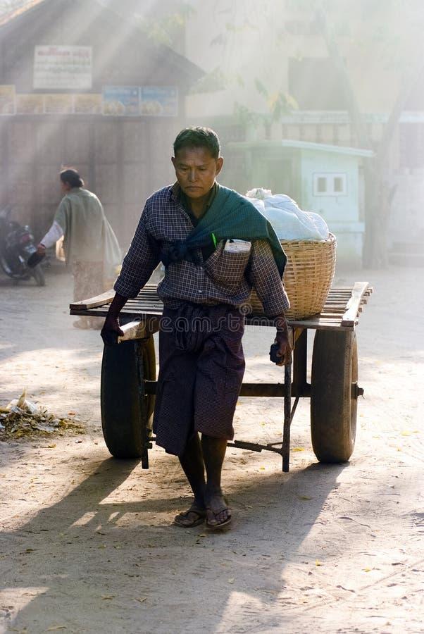 Рынок Nyaung-U, Myanmar стоковая фотография