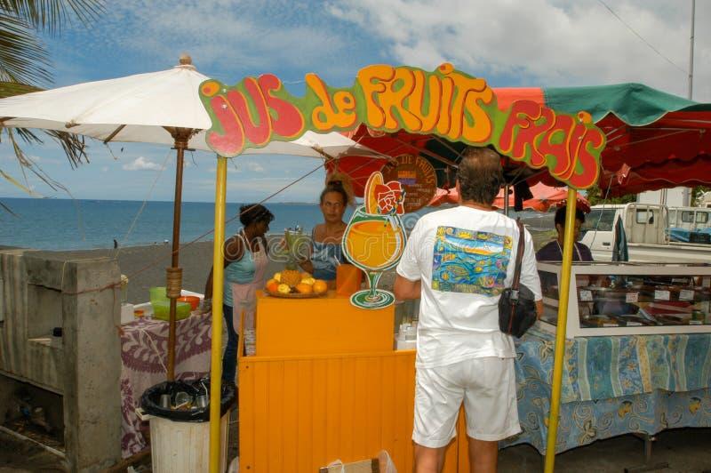 Рынок St Paul на Ла Острове Реюньон, Франции стоковое фото