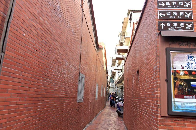 Рынок Street.Taiwan Lugangs старый стоковые изображения rf