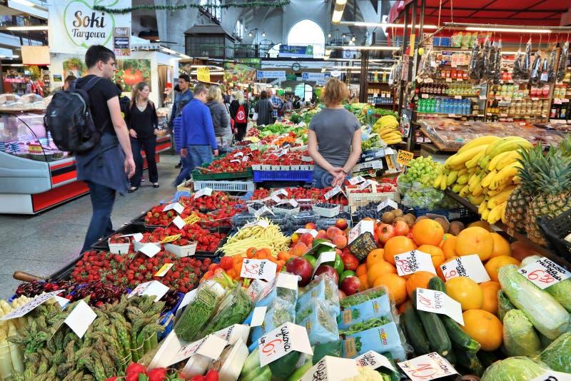 Рынок Wroclaw крытый стоковая фотография rf