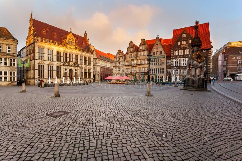 Рыночная площадь Бремен Германия стоковая фотография
