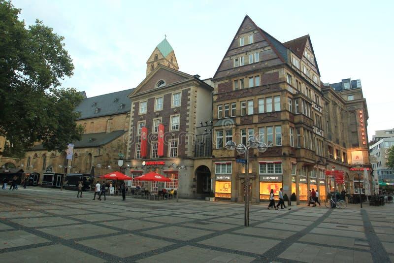 Рыночная площадь в Дортмунде стоковые изображения