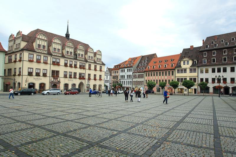 Рыночная площадь в Naumburg стоковое фото