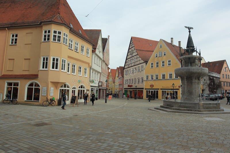Рыночная площадь в Nordlingen стоковое фото rf