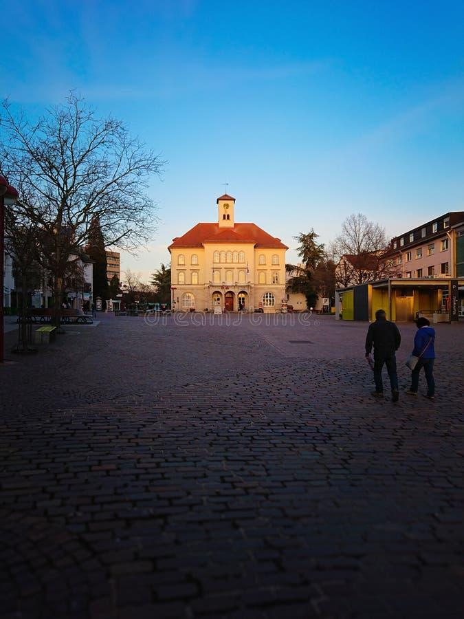 рыночная площадь Sindelfingen Германии стоковое фото rf