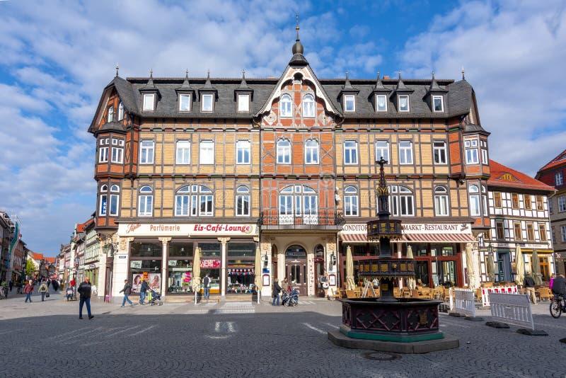 Рыночная площадь Wernigerode, Германии стоковое изображение rf